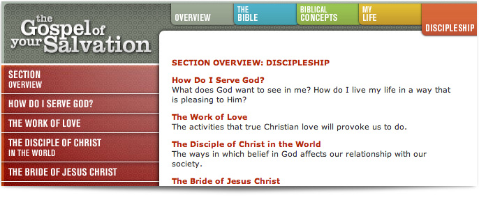 The Gospel of Your Salvation Website and CD-based learning