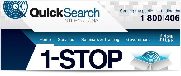 Quick Search International Website redesign
