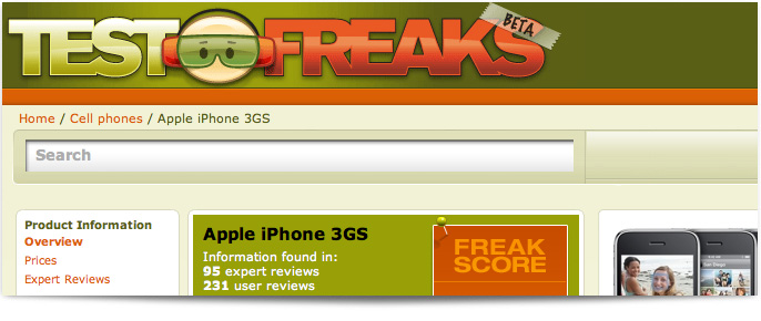 TestFreaks Website and widgets design