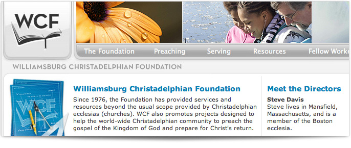 The Williamsburg Christadelphian Foundation Website redesign